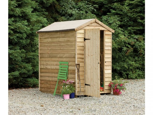 4X6 OVERLAP APEX SECURITY SHED