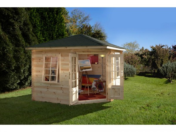WENLOCK LOG CABIN 3.0M X 3.0M 28MM
