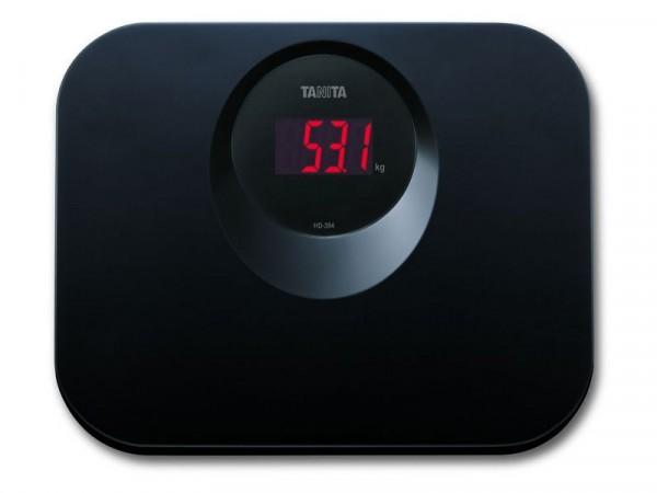 Tanita LED Function Compact Bathroom Scale - Black