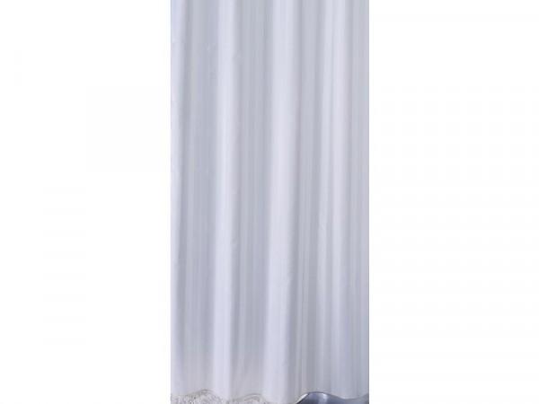 Sabichi Satin Stripe Shower Curtain - White