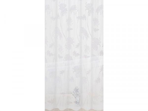 Sabichi Cynthia PEVA Shower Curtain - White