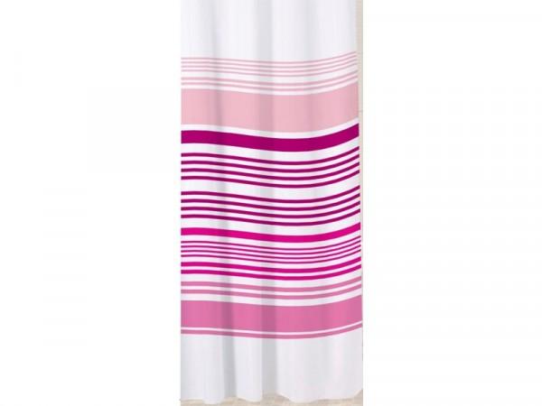 Sabichi Stripe Shower Curtain - Raspberry