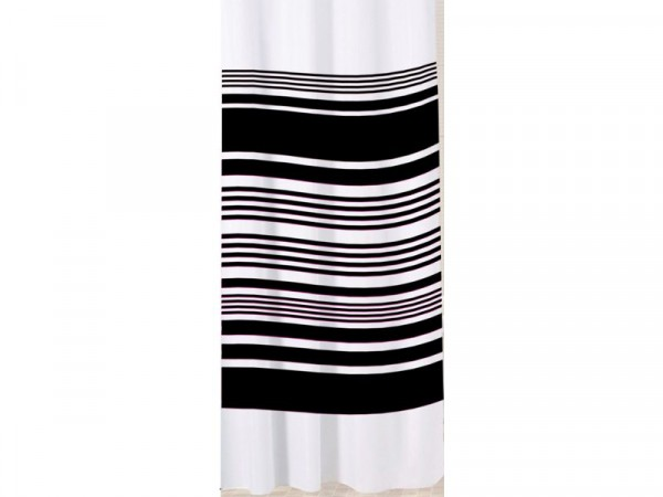 Sabichi Stripe Shower Curtain - Noir