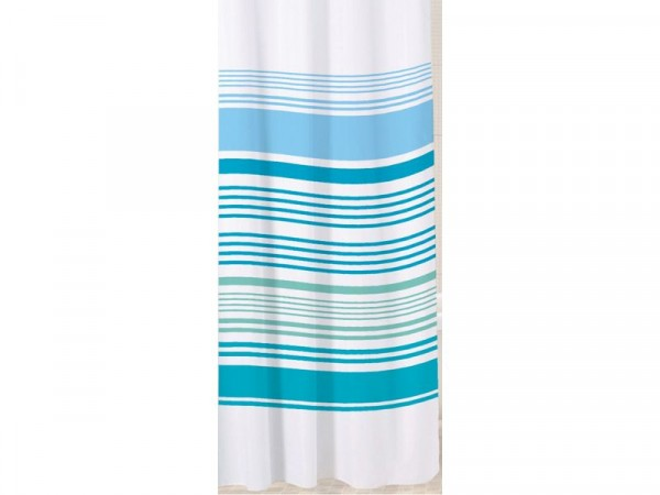 Sabichi Stripe Shower Curtain - Aqua
