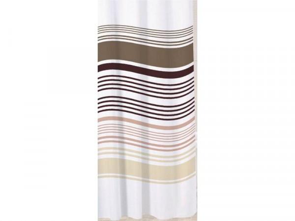 Sabichi Stripe Shower Curtain - White and Neutral