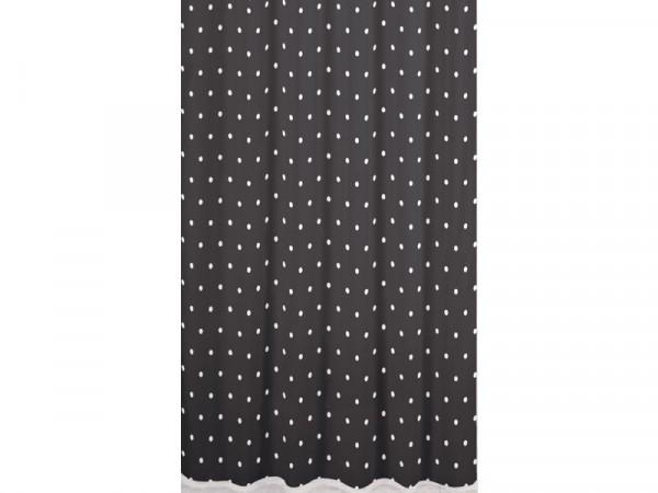 Sabichi Black Spot Shower Curtain - Black