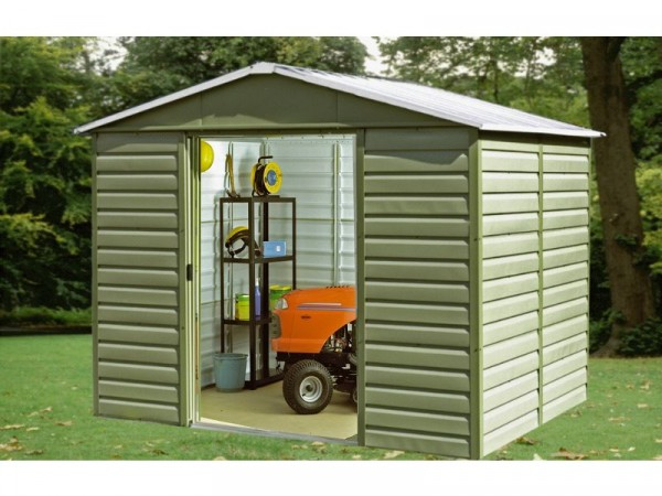 Yardmaster Tall Shiplap Metal Shed - 10 x 12ft
