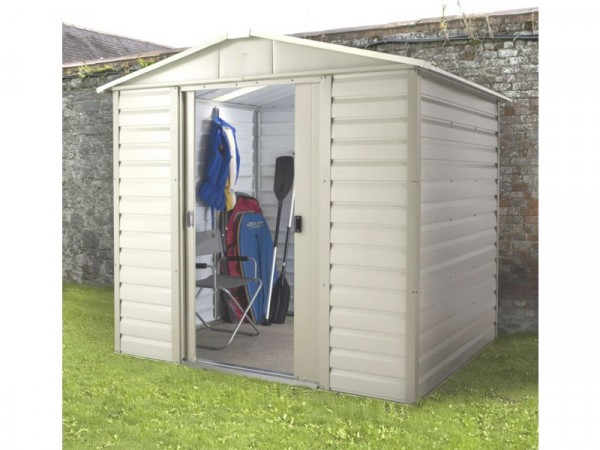 Yardmaster Tall Shiplap Metal Shed - 8 x 6ft