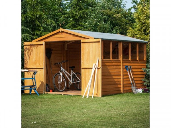 Homewood Overlap Wooden Shed - 10 x 8ft