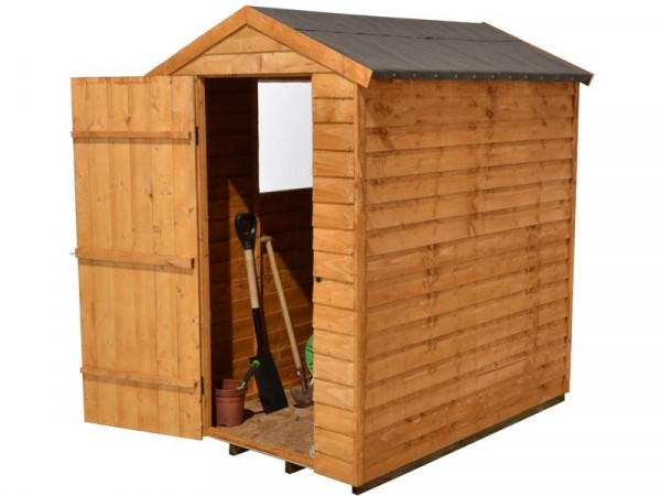 6X4 OVERLAP APEX SHED