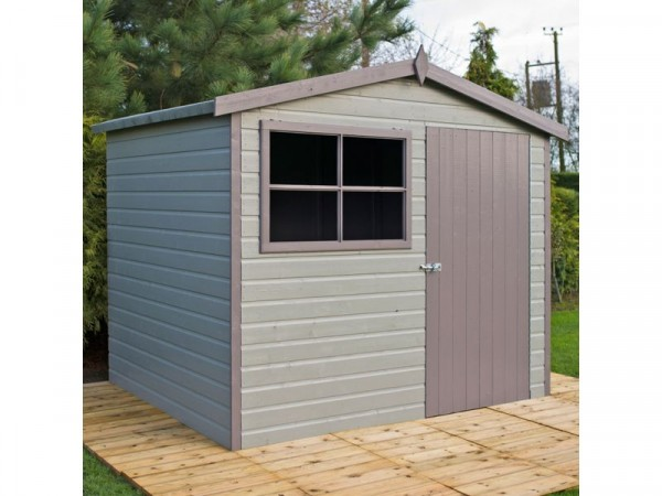 Homewood Wroxham Shiplap Wooden Gable Shed - 8 x 6ft