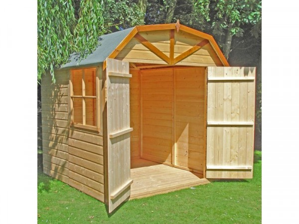 Homewood Shiplap Wooden Barn Shed - 7 x 7ft