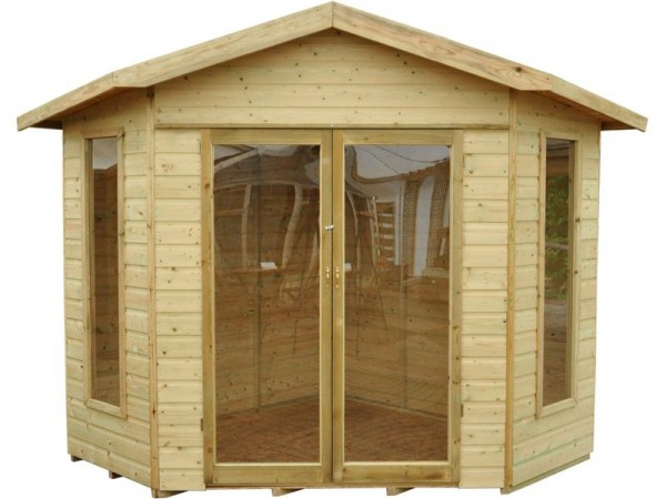 Forest Blockley Wooden Corner Summerhouse - 7 x 7ft