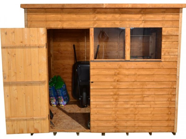 8X6 OVERLAP PENT SHED