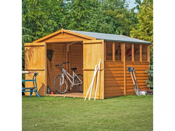 Homewood Overlap Wooden Garden Shed - 12 x 8ft