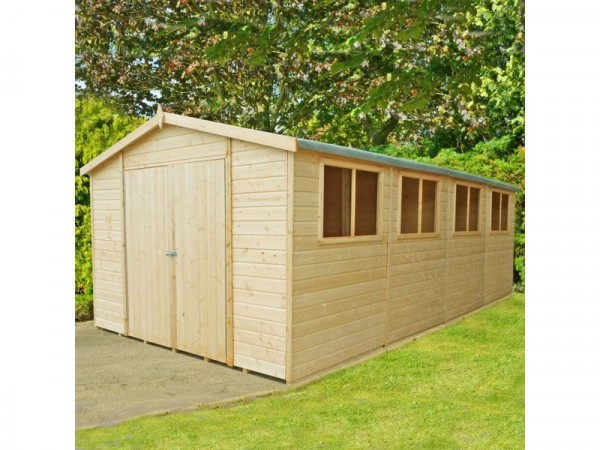 Homewood Wooden Workspace Workshop Shed - 10 x 20ft