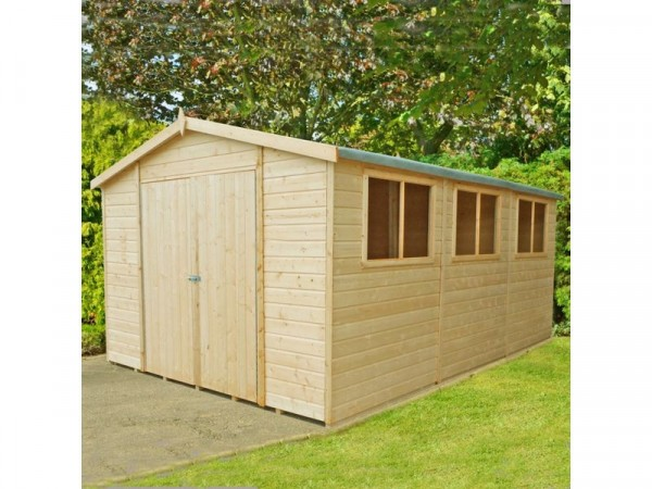 Homewood Workspace Shiplap Wooden Workshop - 10 x 15ft