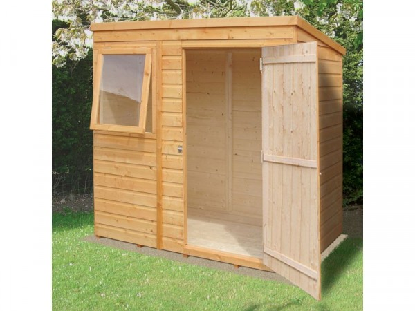 Homewood Pent Wooden Shed - 6 x 4ft