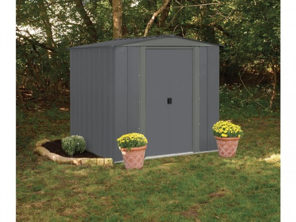 Arrow (Apex) Metal Garden Shed - 6 x 7ft