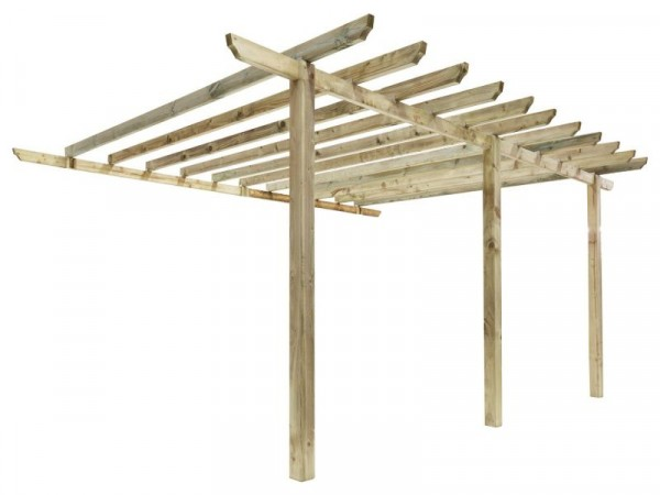 LEAN TO CAR PORT PERGOLA PACK A