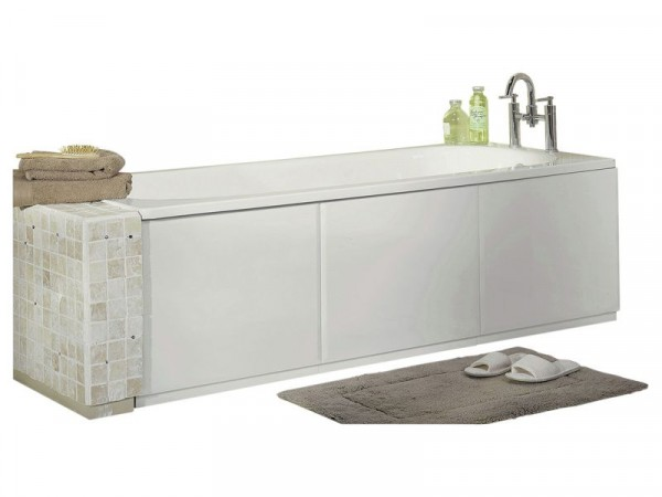 HOME White Gloss Bath Panel