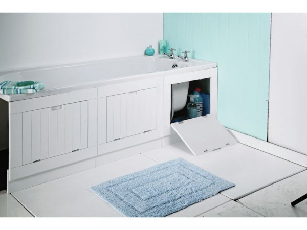 Argos Home Hideaway Bath Panel - Matt White