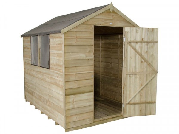 6X8 OVERLAP APEX SHED ASSEMBLED