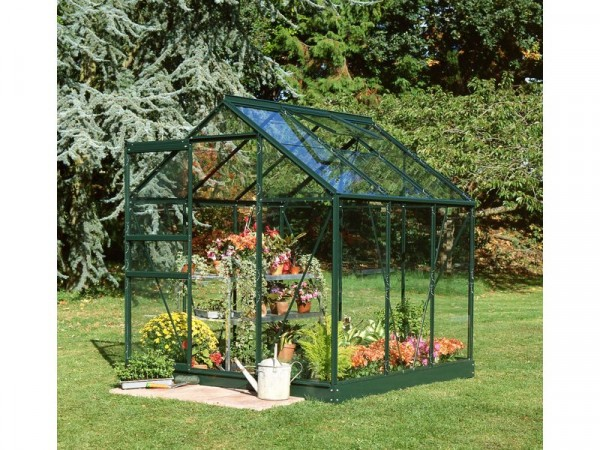 Halls Popular Glass 6 x 6ft Greenhouse with Base