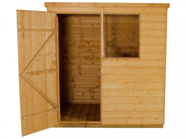 6X4 SHIPLAP PENT SHED WITH BASE