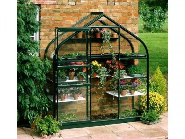 Halls Supreme Wall Garden Lean-to Greenhouse with Base