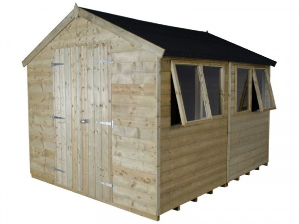 10X8 T G PTR APEX SHED