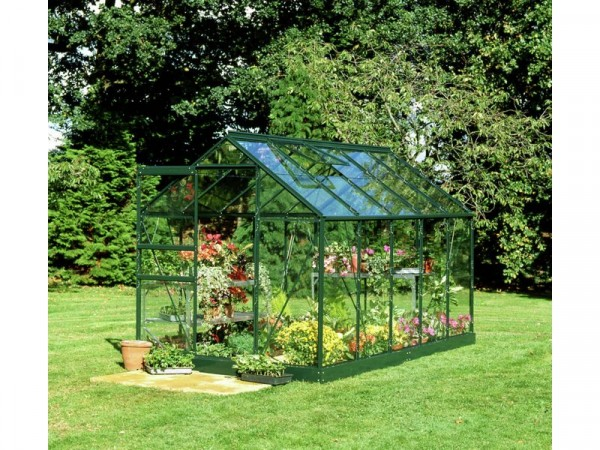 Halls Popular Glass 10 x 6ft Greenhouse with Base