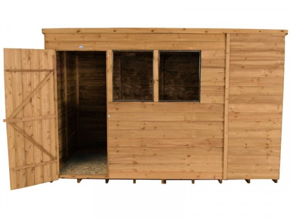 Forest Wooden 10 x 6ft Overlap Pent Shed