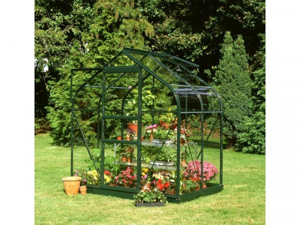 Halls Supreme Toughened Glass 4 x 6ft Greenhouse with Base