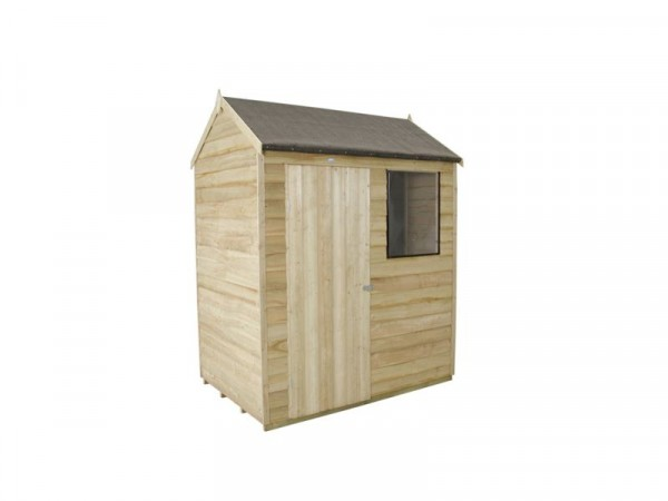 6X4 OVERLAP REVERSE APEX SHED ASSEMBLED