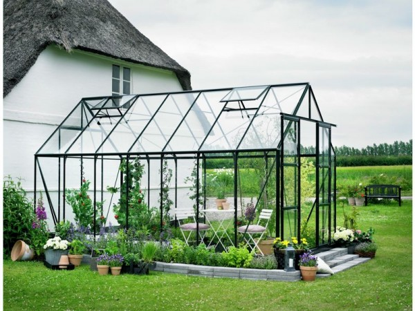 Halls Magnum Glass 14 x 8ft Greenhouse with Base