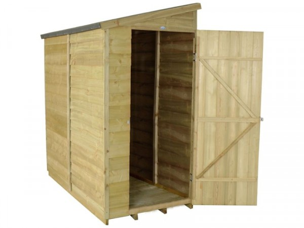 6X3 OVERLAP PENT WALL SHED ASSEMBLED