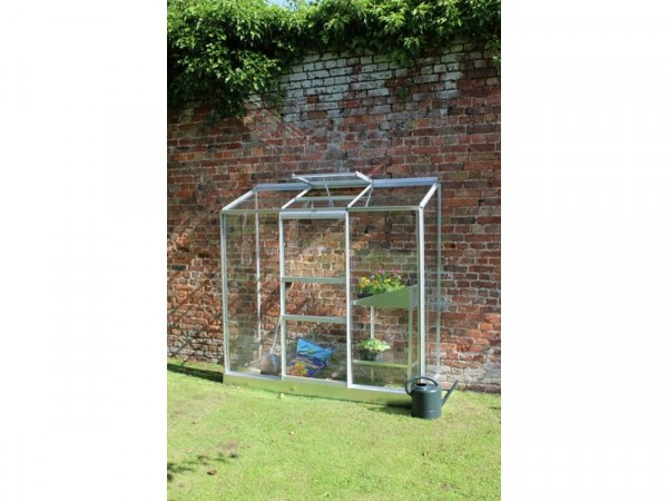 Halls Aluminium Wall Garden Greenhouse with Base