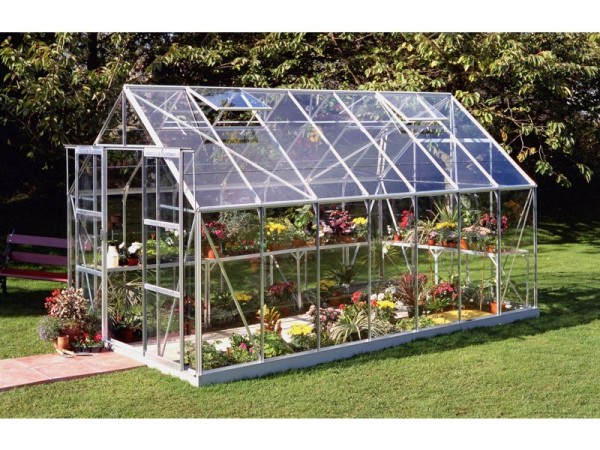 Halls Magnum Toughened Glass 14 x 8ft Greenhouse with Base