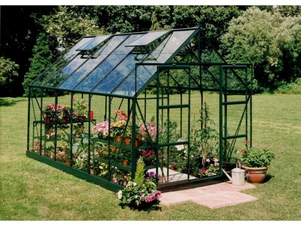 Halls Magnum Toughened Glass 12 x 8ft Greenhouse with Base