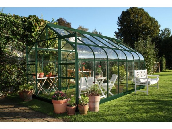 Halls Supreme Toughened Glass 14 x 8ft Greenhouse with Base