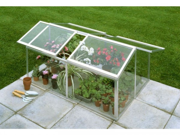Halls Mill Toughened 4 x 3ft Jumbo Coldframe