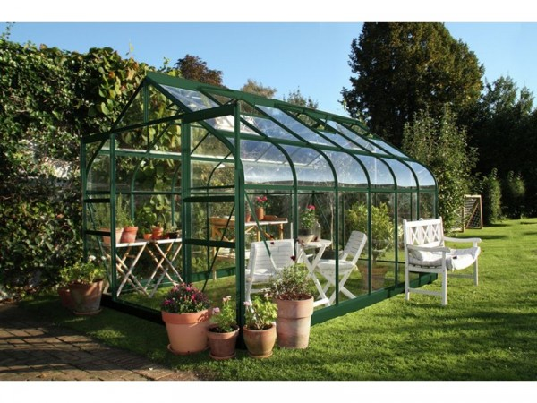 Halls Supreme Toughened Glass 12 x 8ft Greenhouse with Base