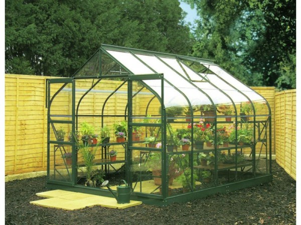 Halls Supreme Glass 10 x 8ft Greenhouse with Base