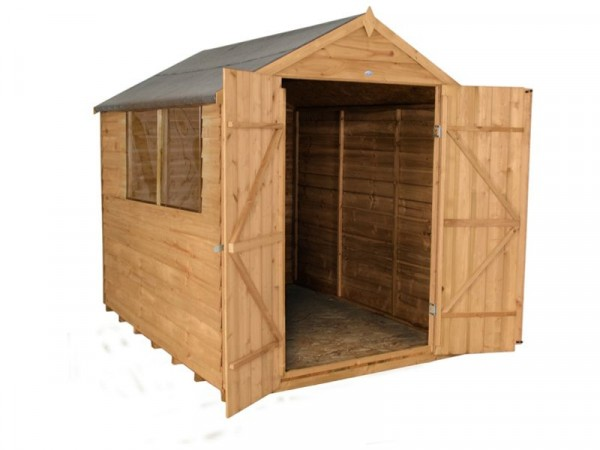 8X6 DOUBLE DR OVERLAP SHED AND BASE