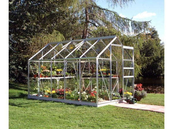 Halls Popular Toughened Glass 10 x 6ft Greenhouse with Base