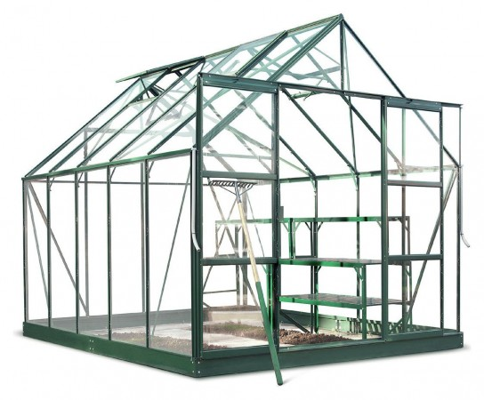 Halls Magnum Toughened Glass 10 x 8ft Greenhouse with Base