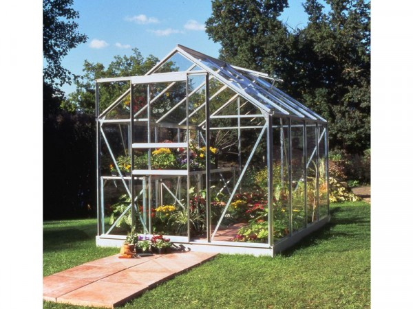 Halls Popular Toughened Glass 8 x 6ft Greenhouse with Base