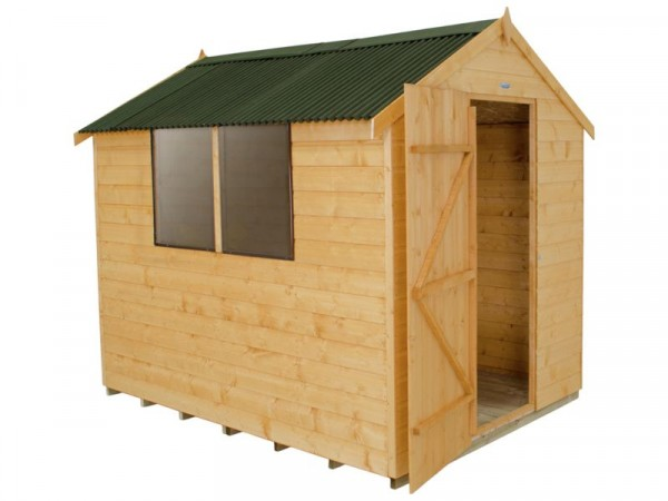 Forest Onduline Roof Shiplap Wooden Shed - 8 x 6ft