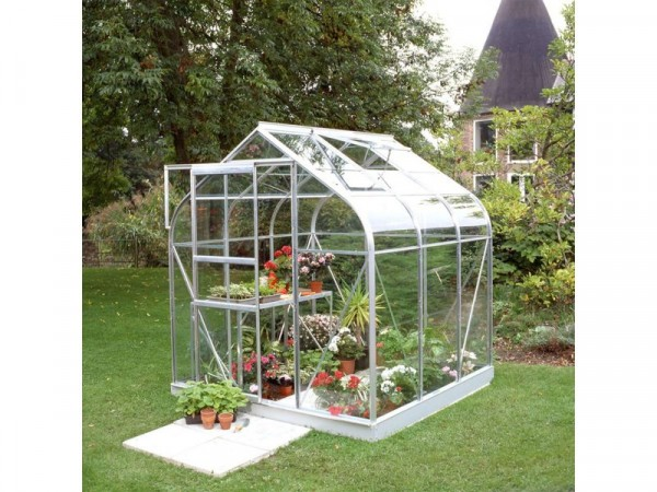 Halls Supreme Glass 6 x 6ft Greenhouse with Base